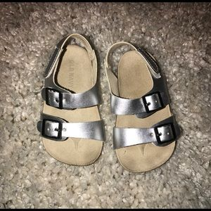 Baby girl silver sandals
